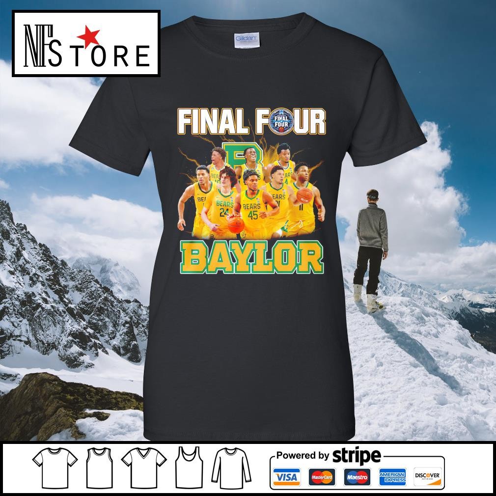 2021 Men's Basketball Final Four Baylor ladies-tee