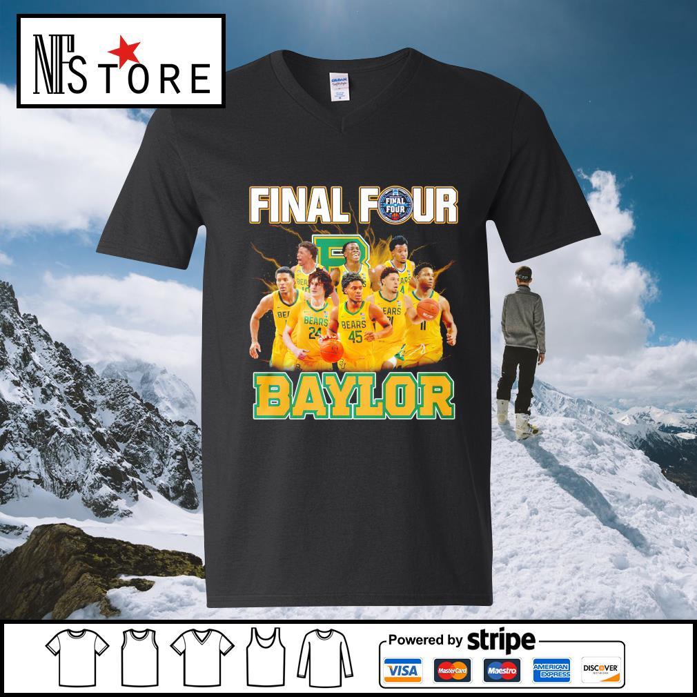 2021 Men's Basketball Final Four Baylor v-neck-t-shirt