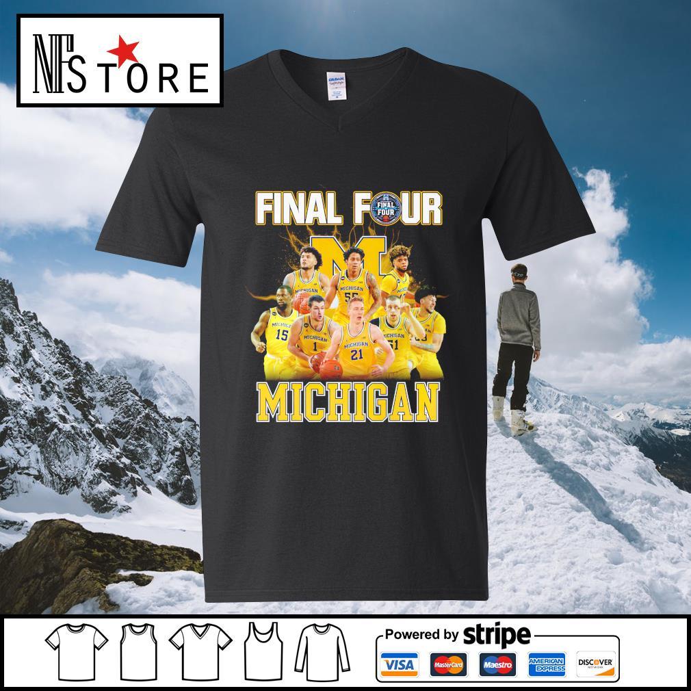 2021 Men's Basketball Final Four Michigan v-neck-t-shirt