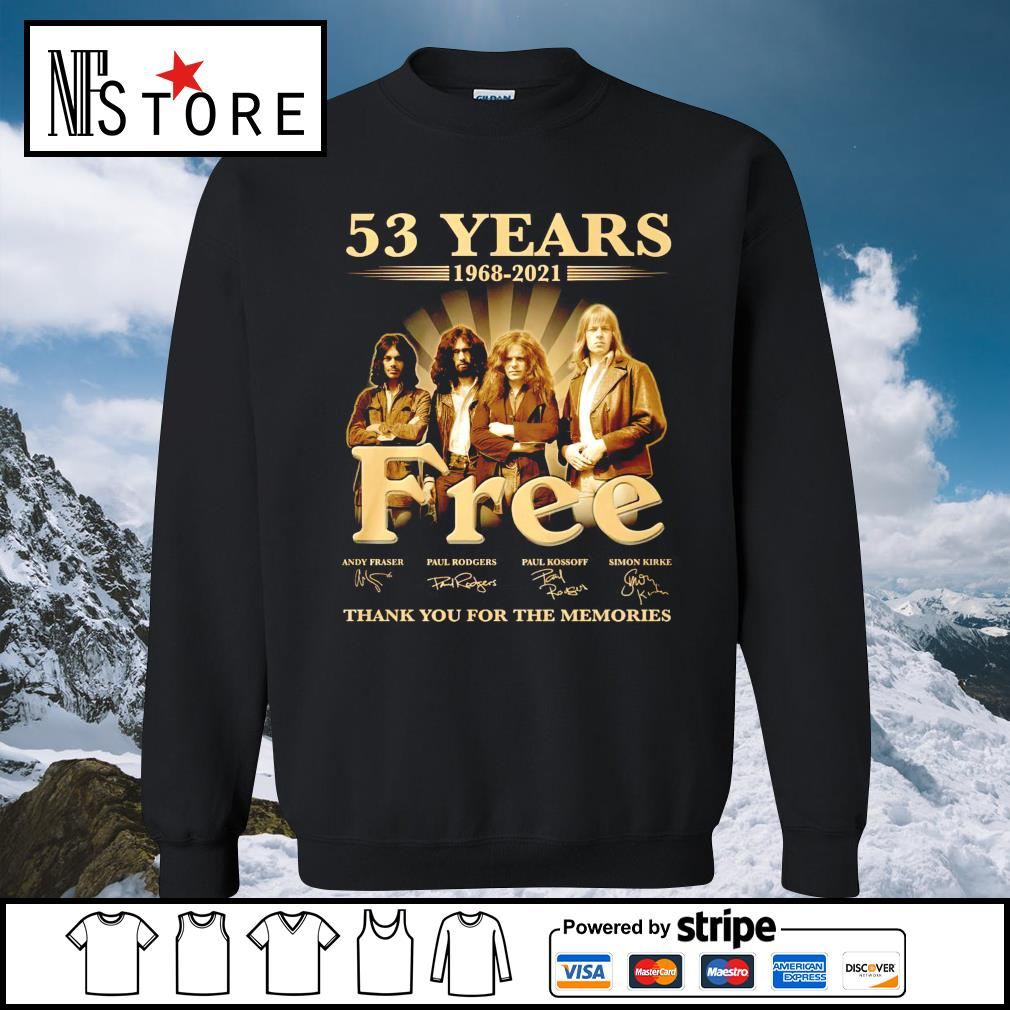 53 years 1968 2021 Free thank you for the memories sweater
