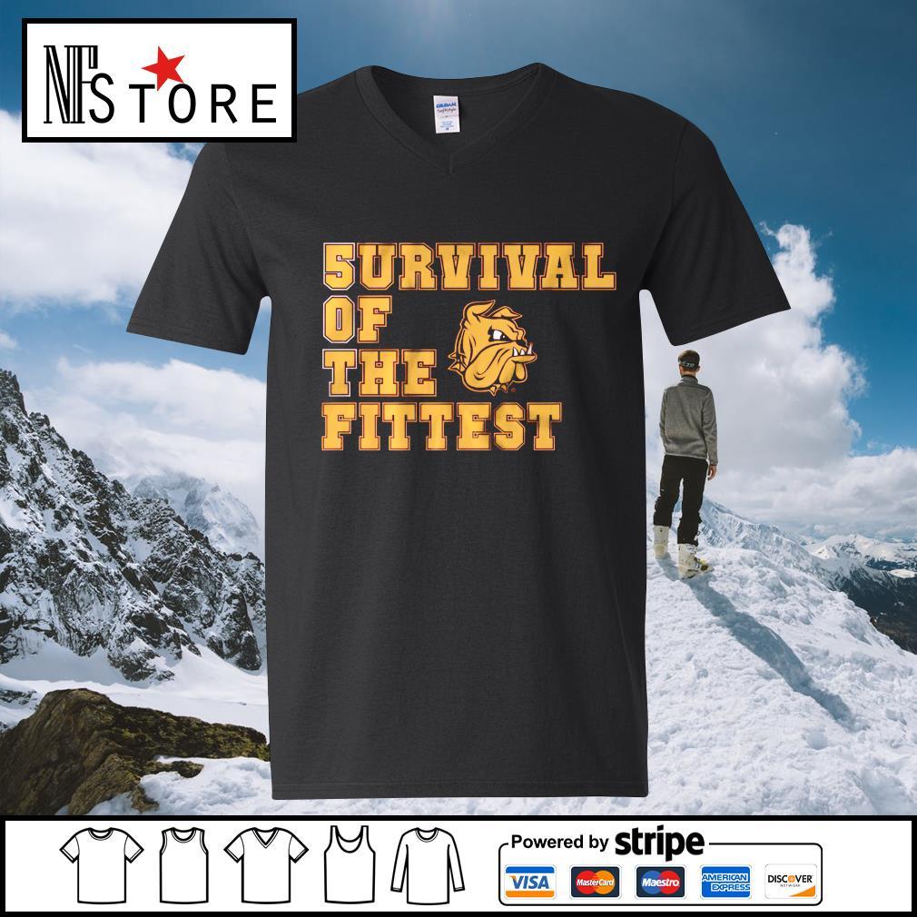 5urvival of the Fittest Minnesota Duluth v-neck-t-shirt