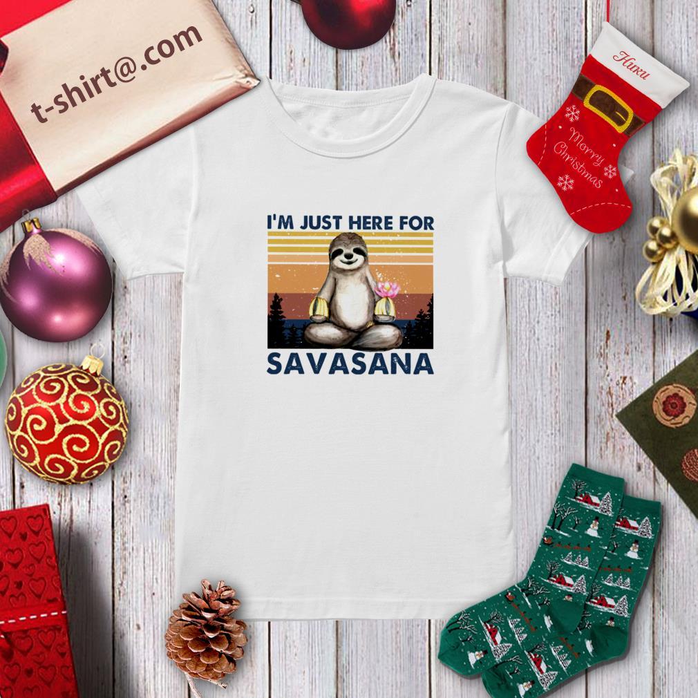 Sloth namaste I'm just here for savasana vintage shirt – New ...