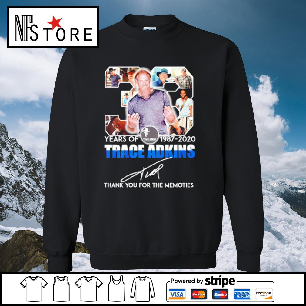 33 years of 1987-2020 Trace adkins thank you for the memories s sweater