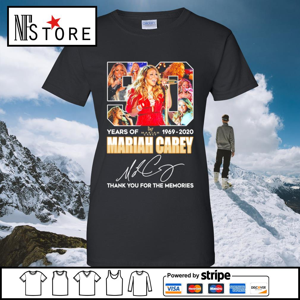50 years of Mariah Carey 1969 2020 thank you for the memories s ladies-tee