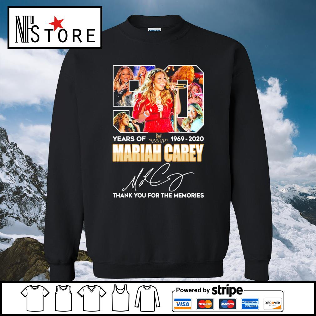 50 years of Mariah Carey 1969 2020 thank you for the memories s sweater