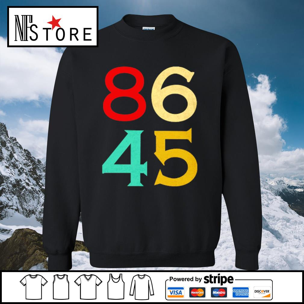 86 45 anti Trump s sweater