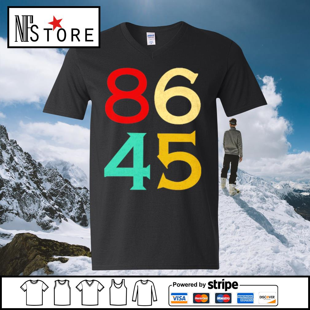 86 45 anti Trump s v-neck-t-shirt