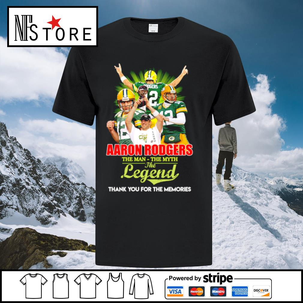 Aaron rodgers the man the myth the legend thank you for the memories shirt