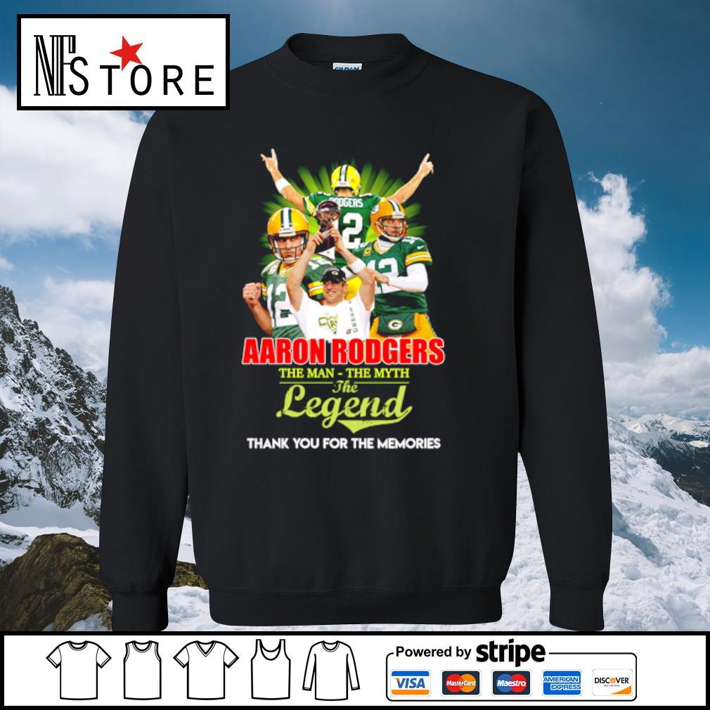 Aaron rodgers the man the myth the legend thank you for the memories s sweater