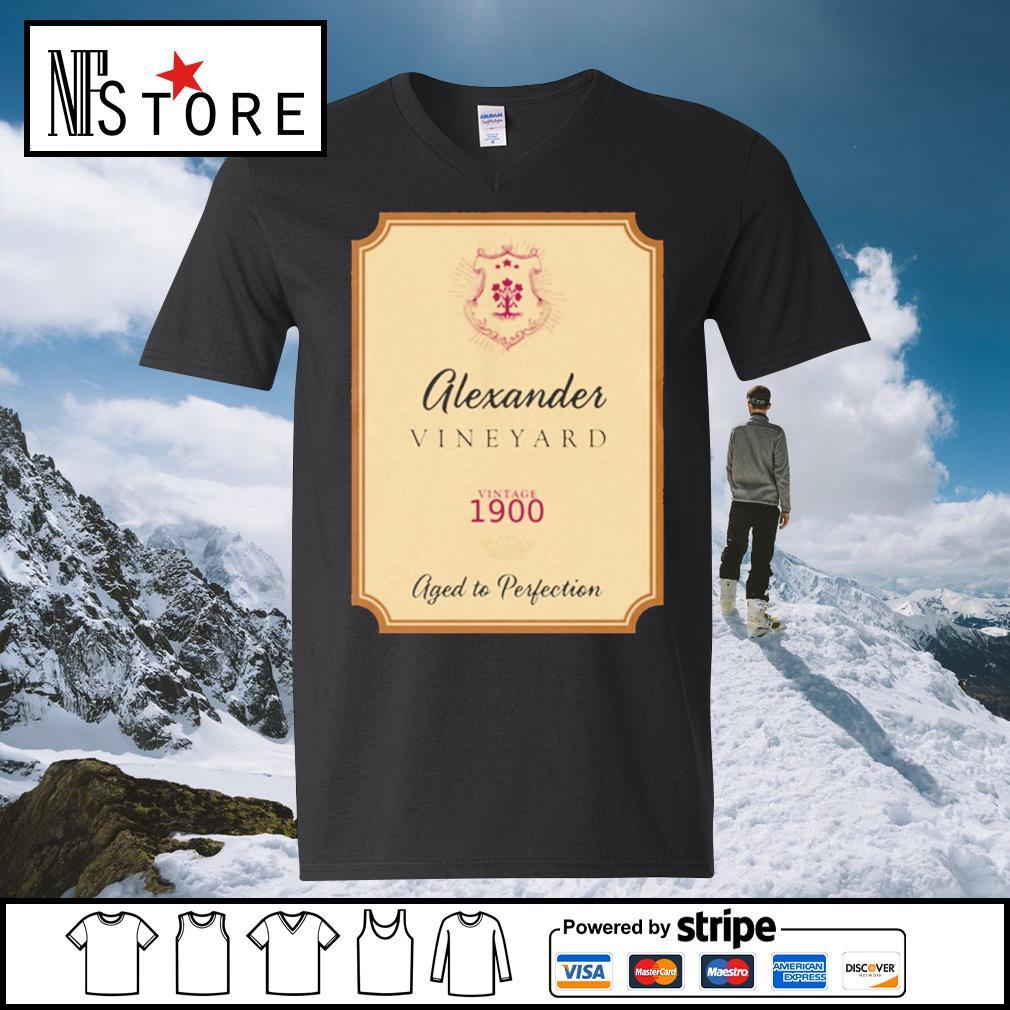 Alexander Vineyard vintage 1900 aged to perfection s v-neck-t-shirt
