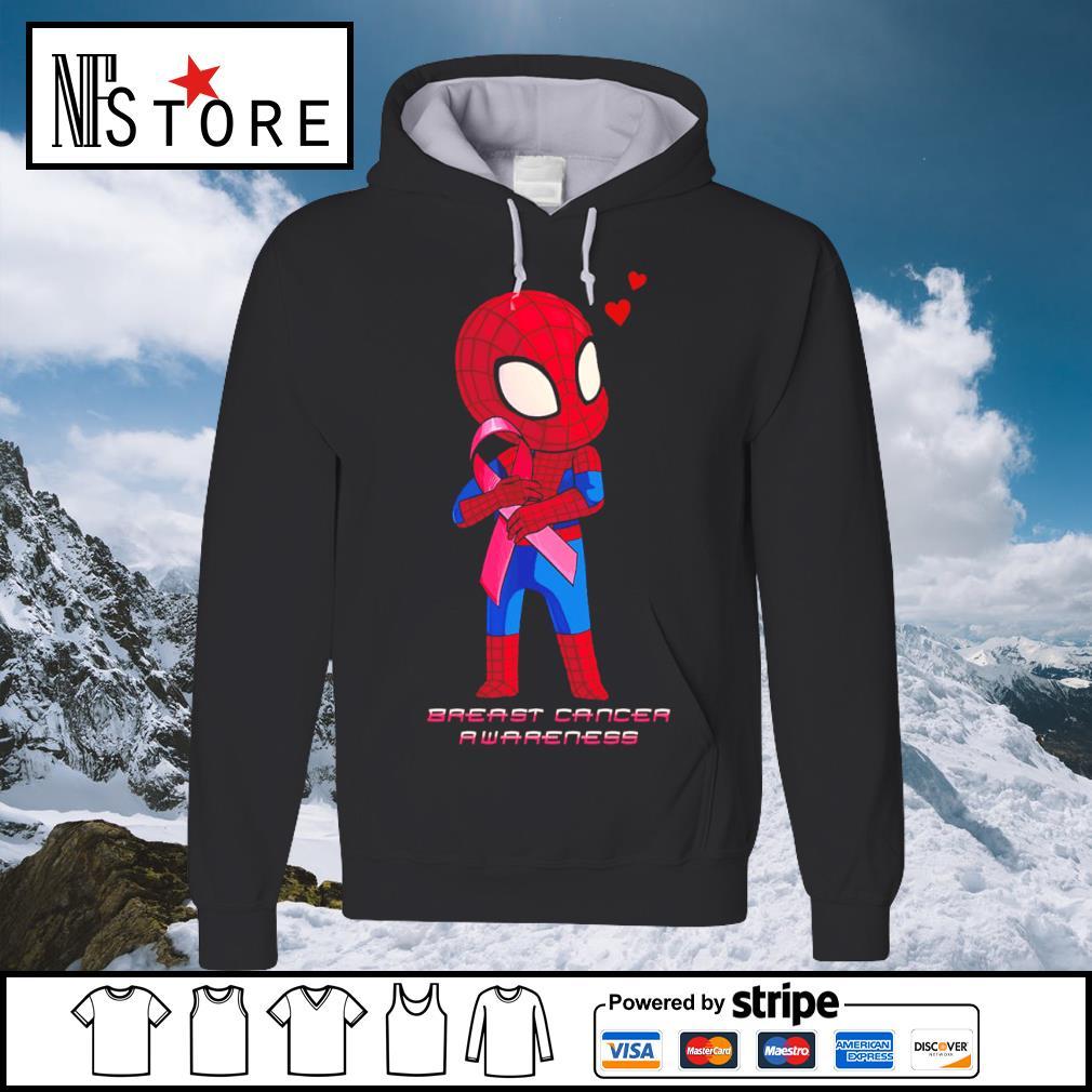 Baby Spiderman Breast Cancer Awareness s hoodie