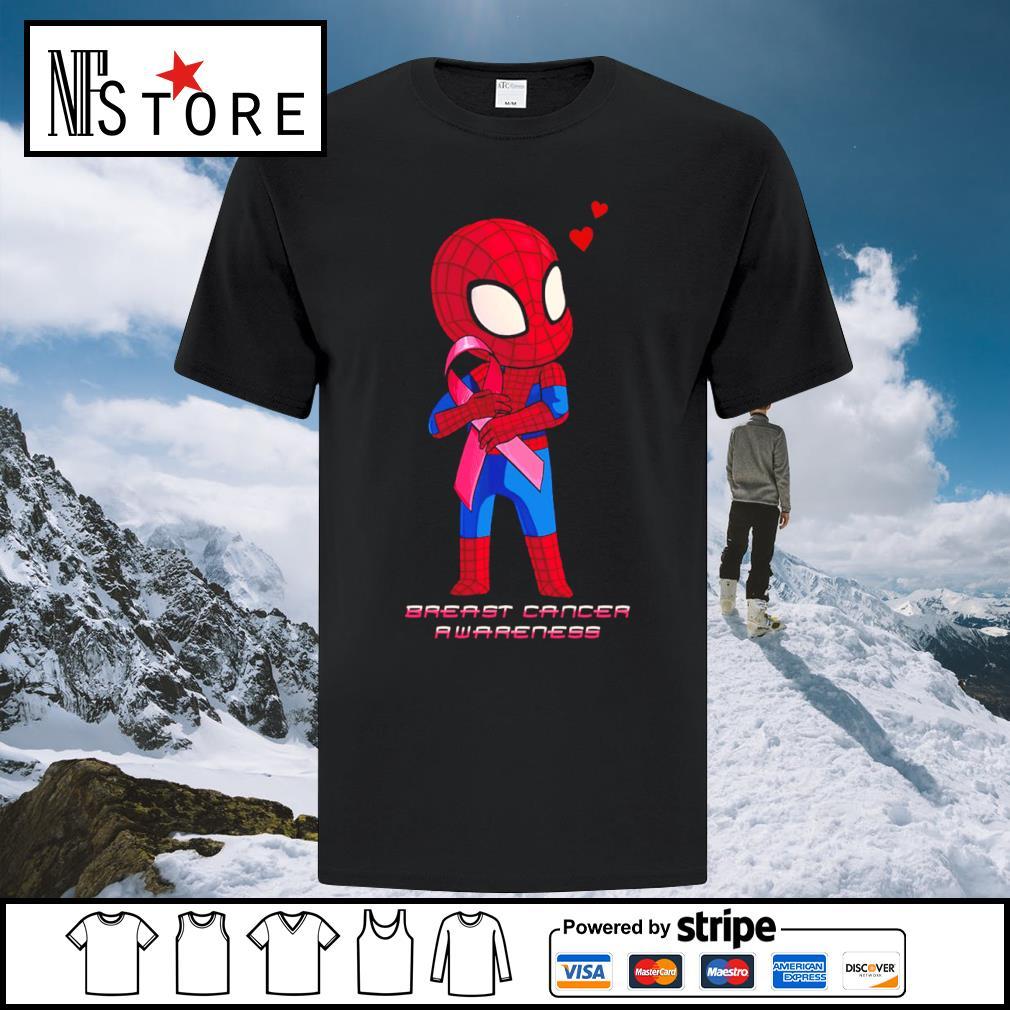 Baby Spiderman Breast Cancer Awareness shirt