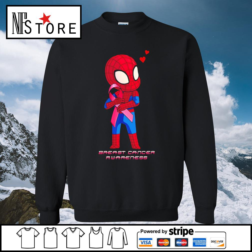 Baby Spiderman Breast Cancer Awareness s sweater