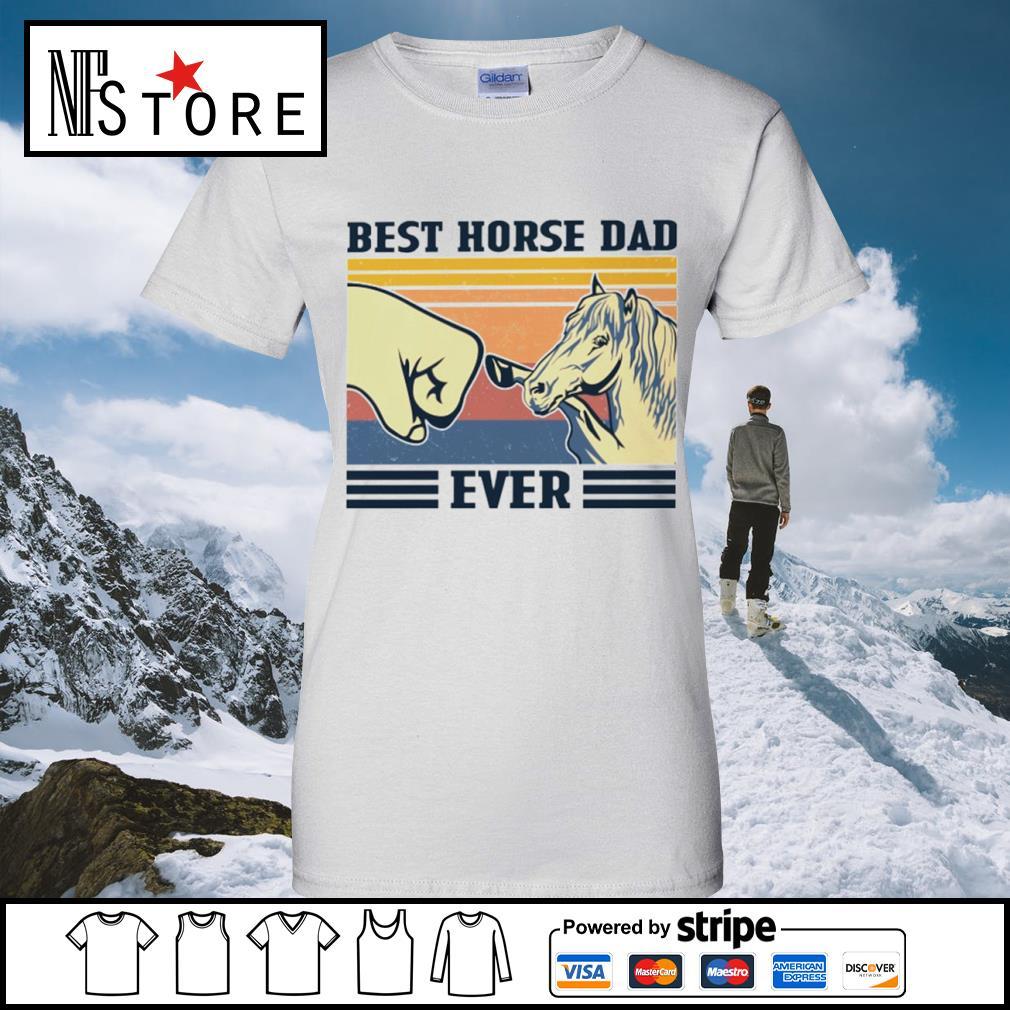 Best horse dad ever vintage s ladies-tee