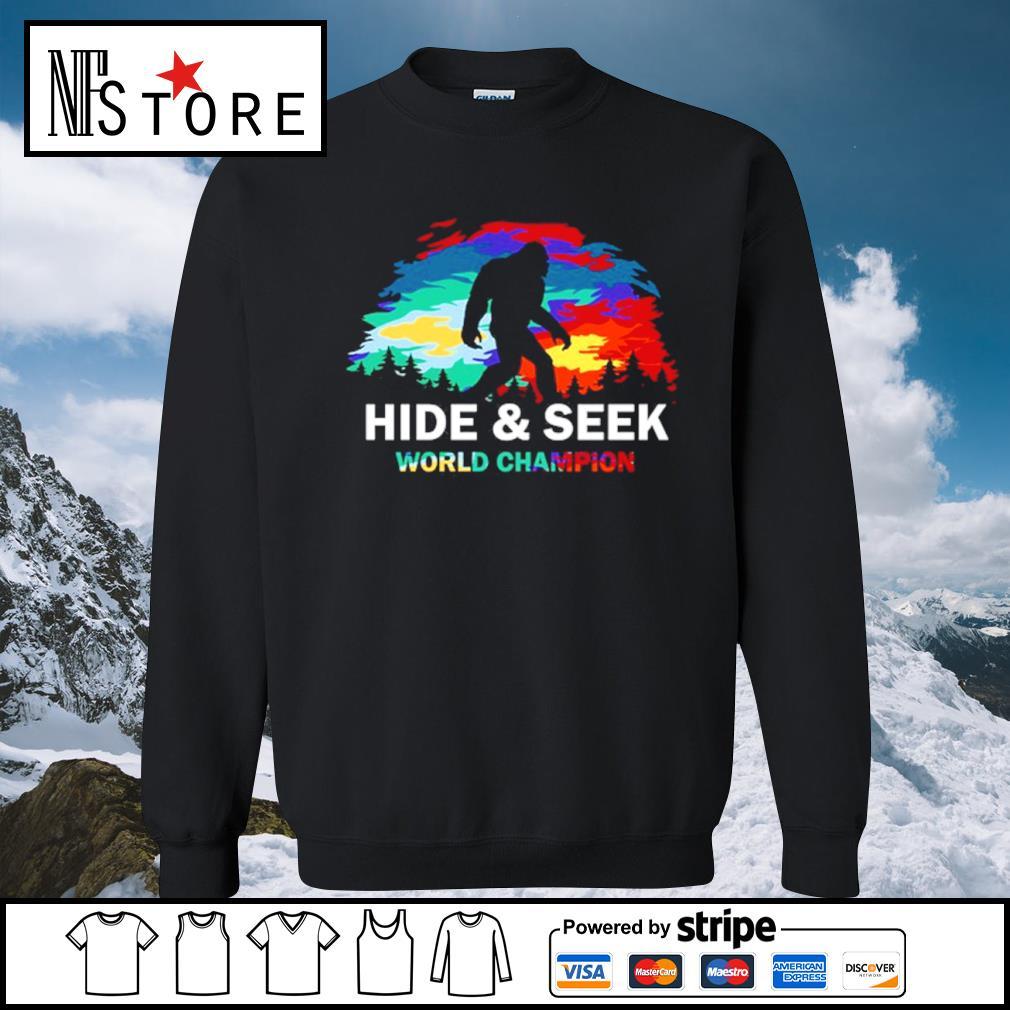 Bigfoot hide and seek world champion s sweater