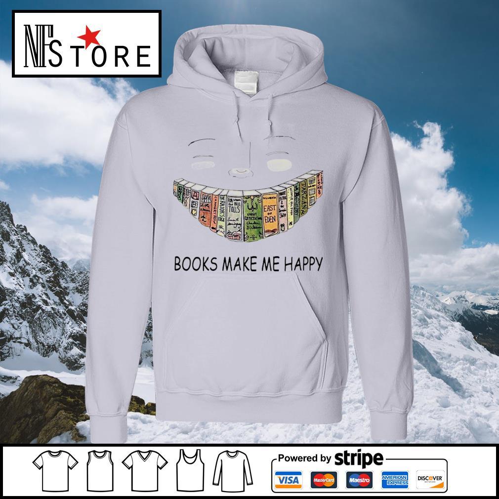 Books make me happy smile s hoodie