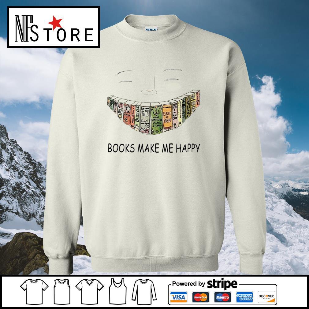 Books make me happy smile s sweater