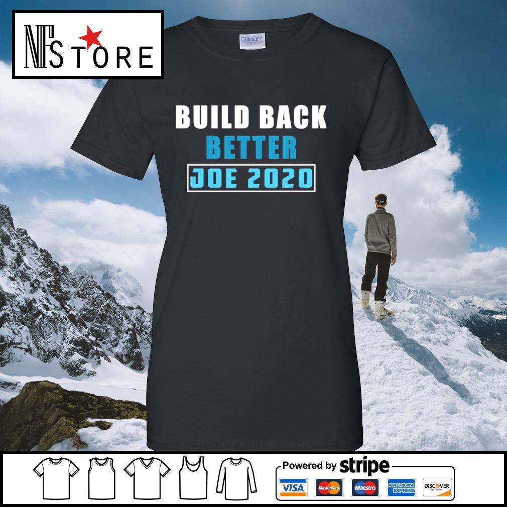 Build back better Joe 2020 s ladies-tee
