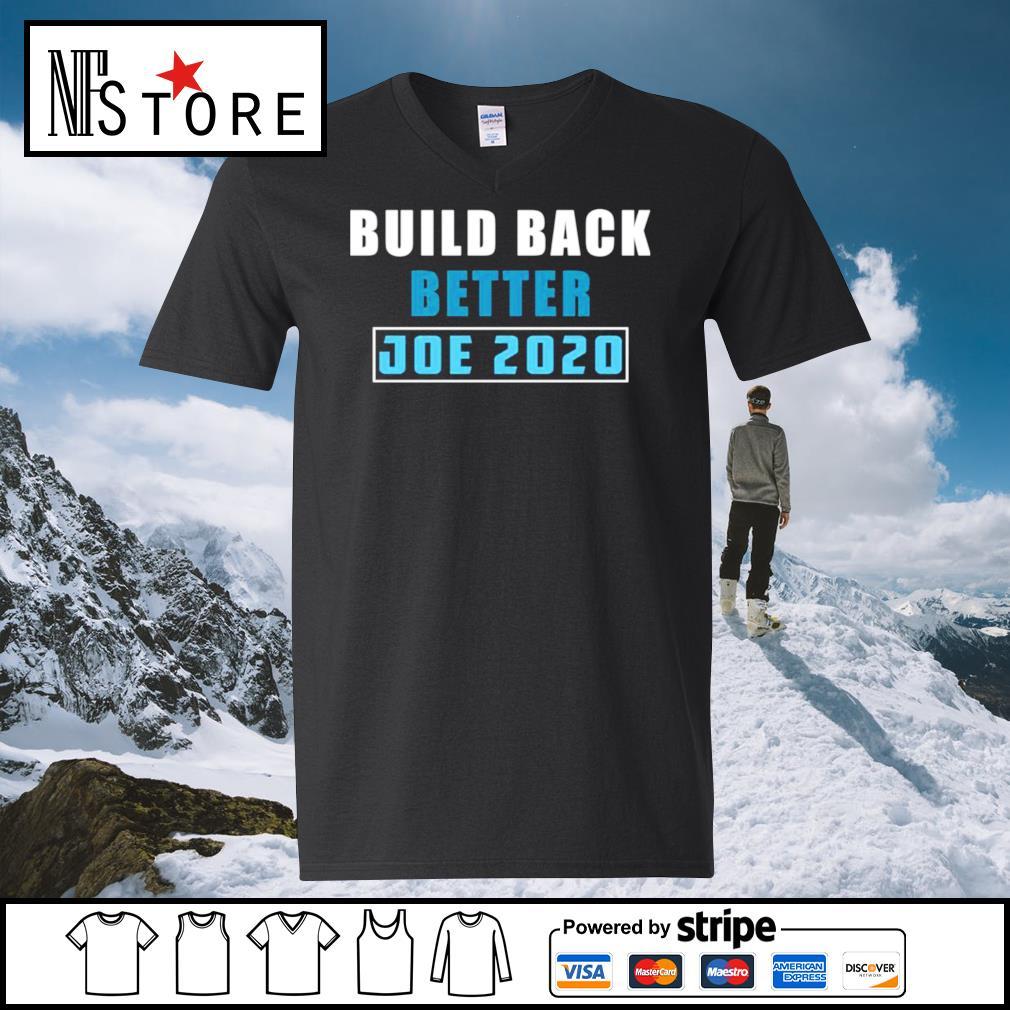 Build back better Joe 2020 s v-neck-t-shirt