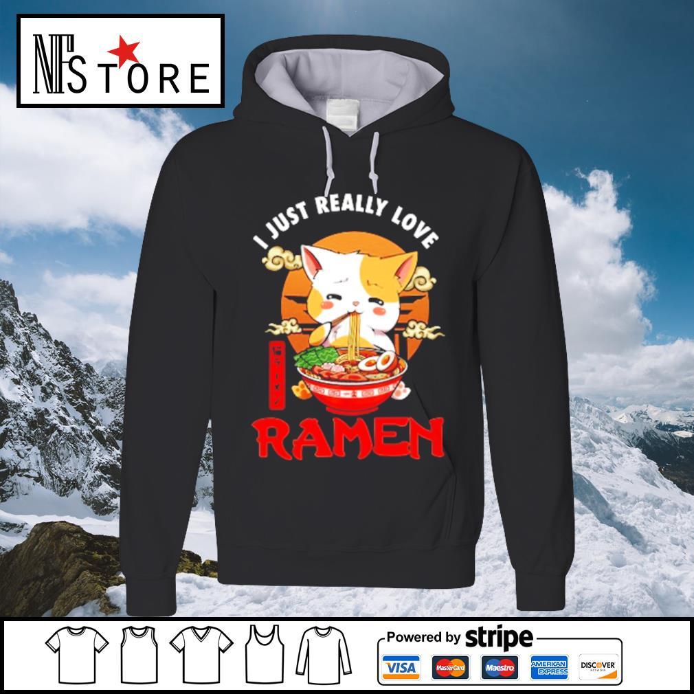 Cat I just really love Ramen s hoodie