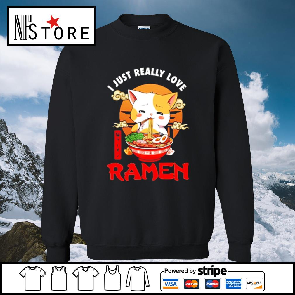 Cat I just really love Ramen s sweater