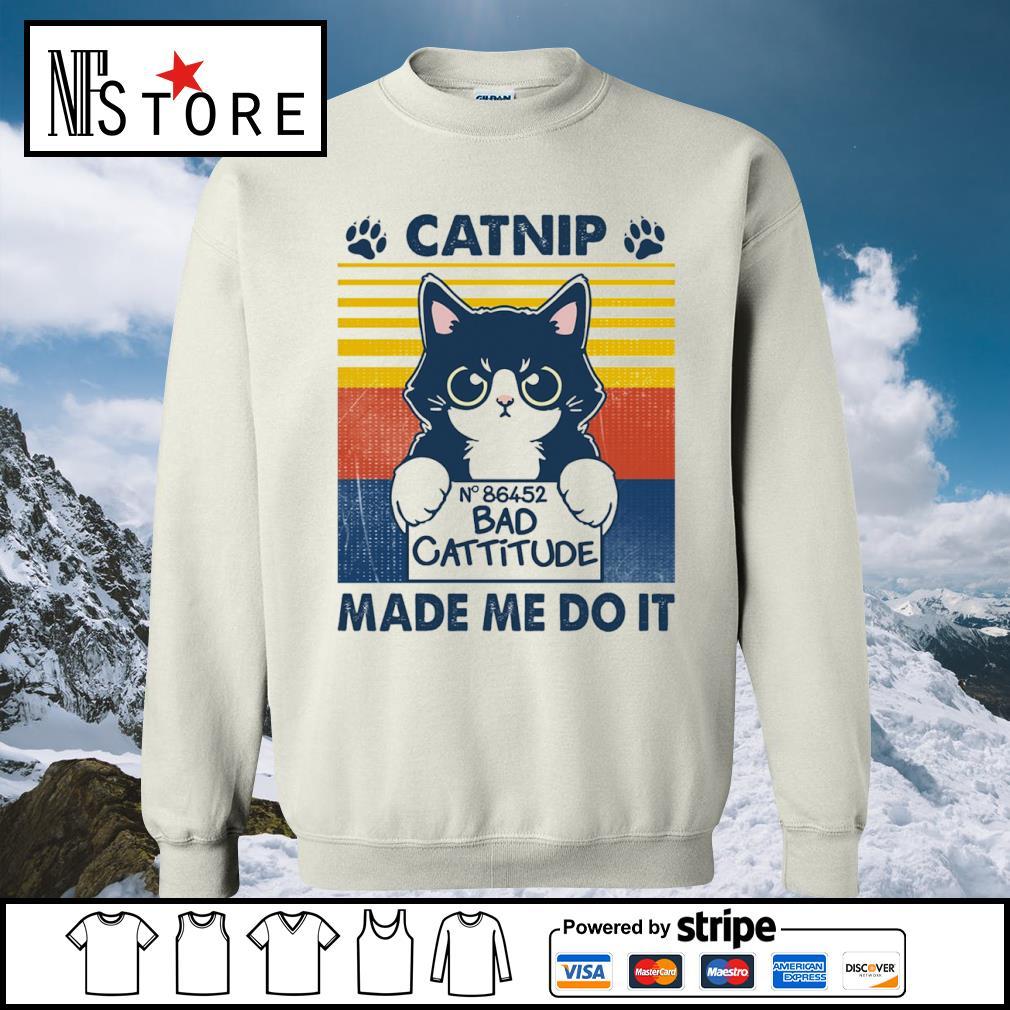 Catnip no 86452 bad cattitude made me do it vintage s sweater