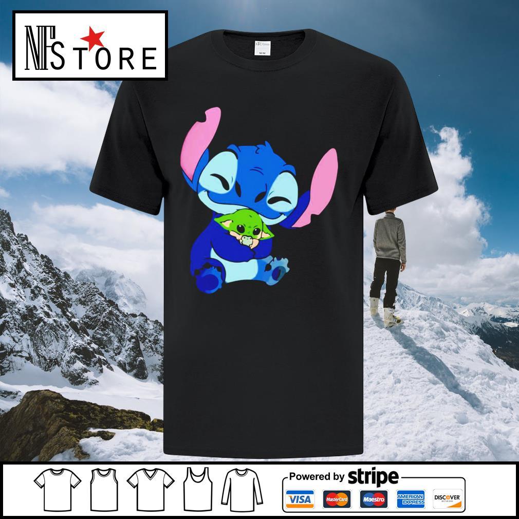 Disney Stitch hug baby Yoda shirt