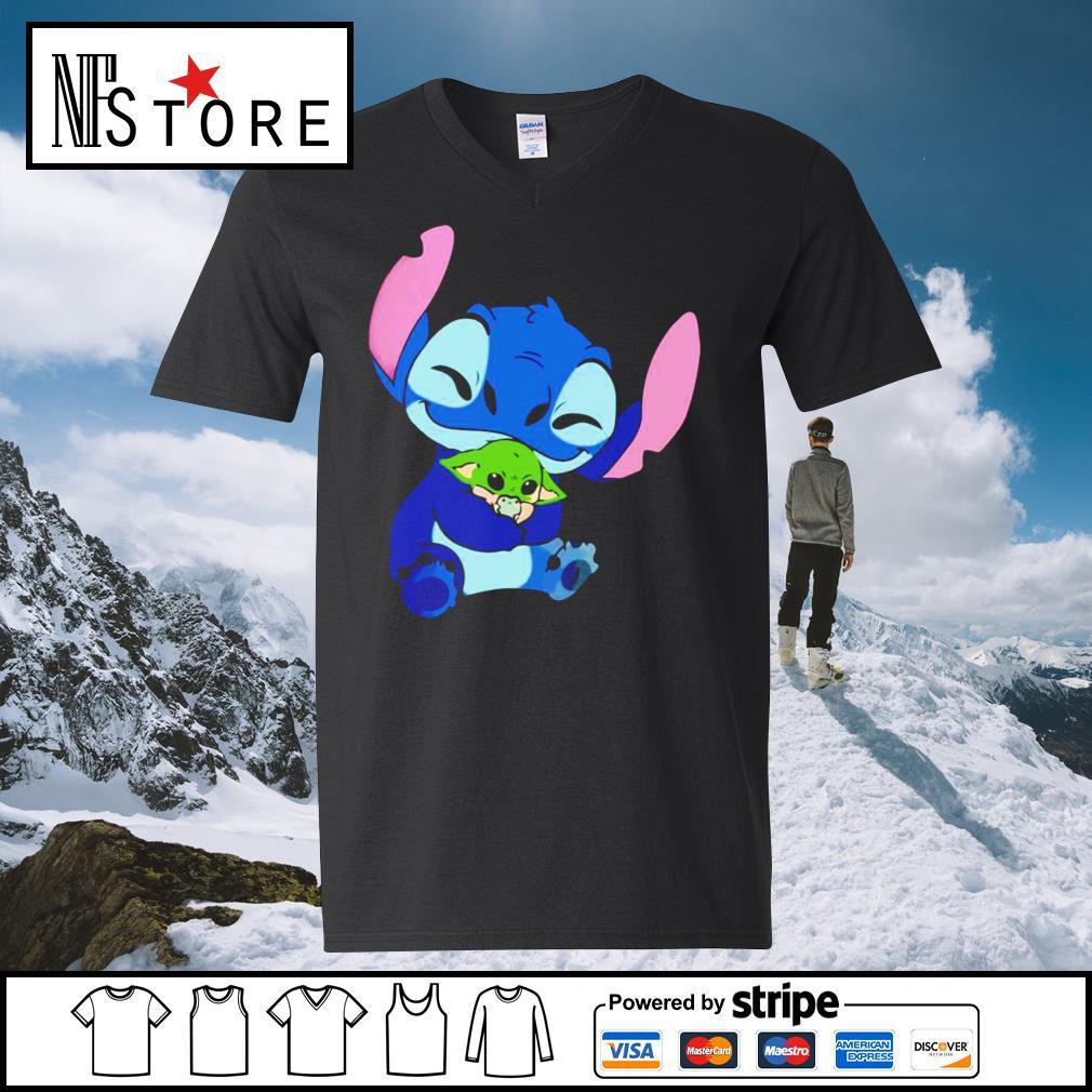Disney Stitch hug baby Yoda s v-neck-t-shirt