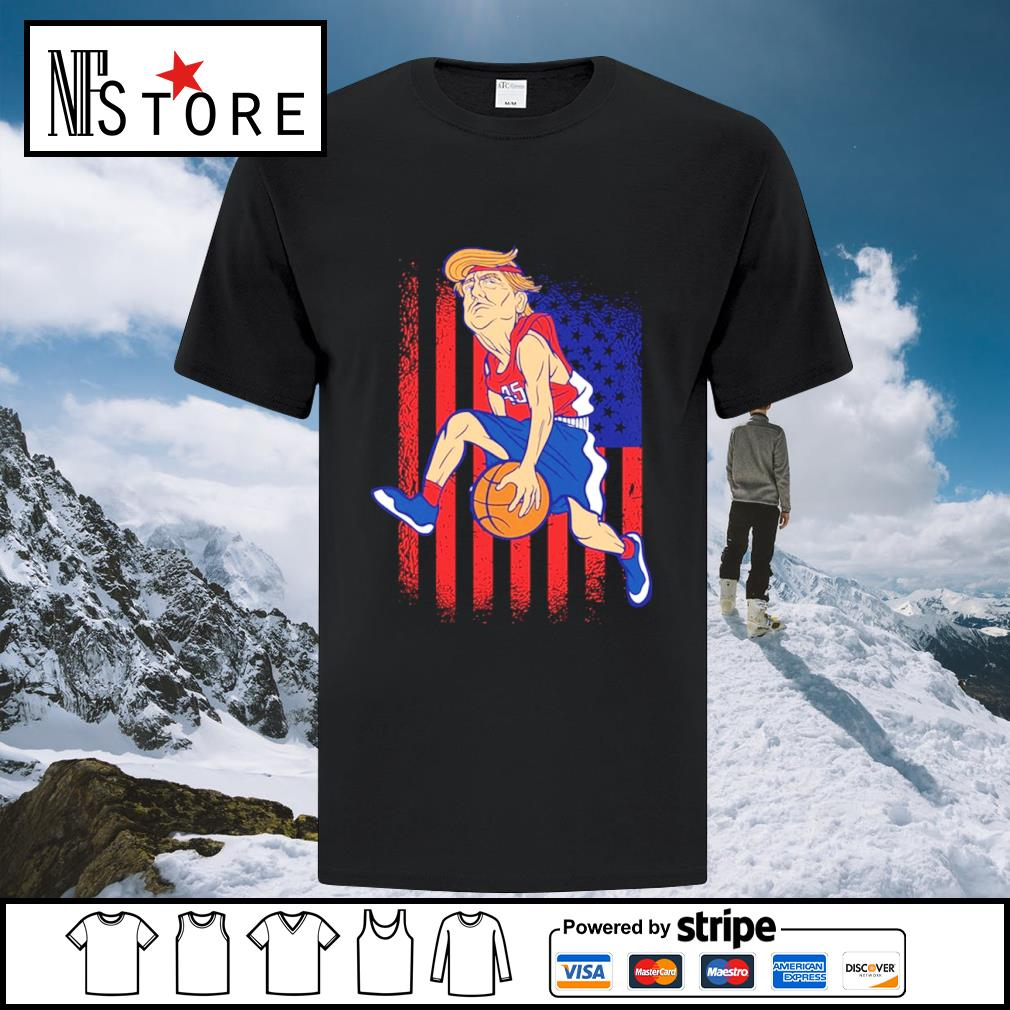 Donald Trump basketball American flag shirt