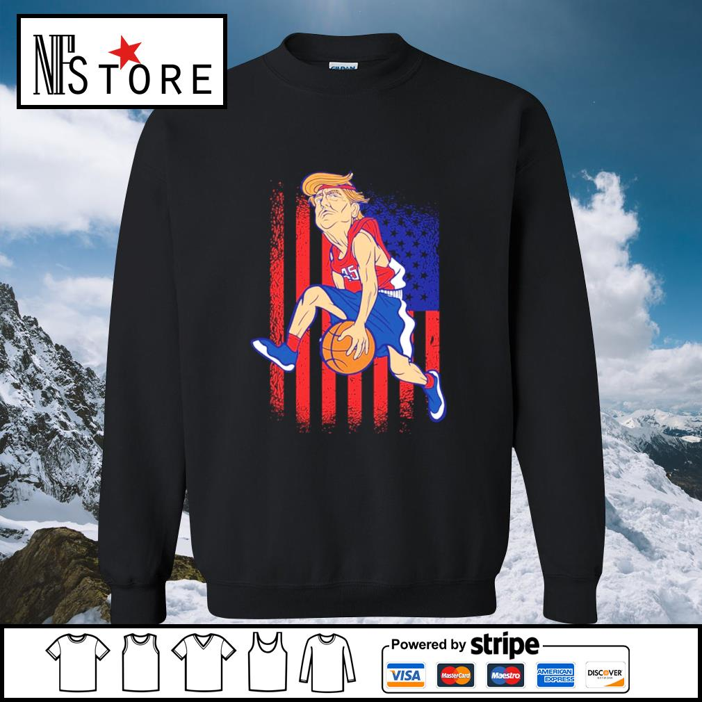 Donald Trump basketball American flag s sweater