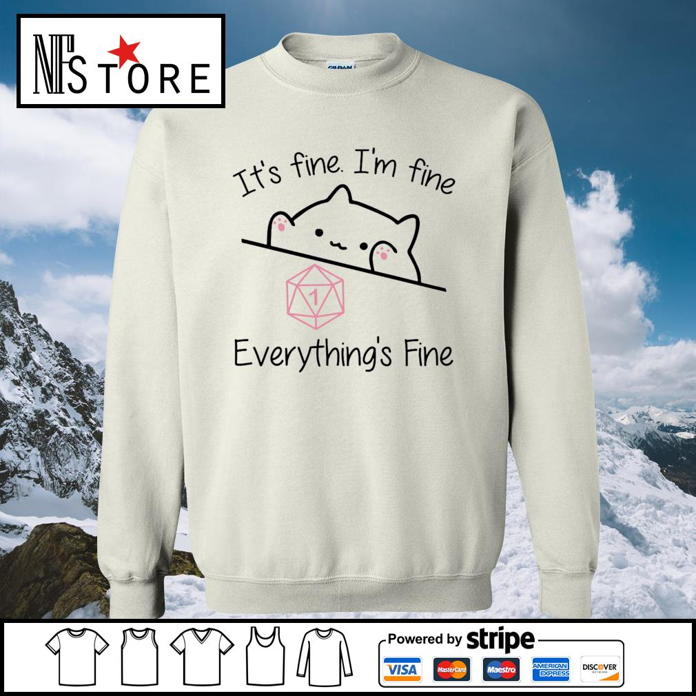 Dungeon Meowster it_s fine I_m fine everything_s fine s sweater