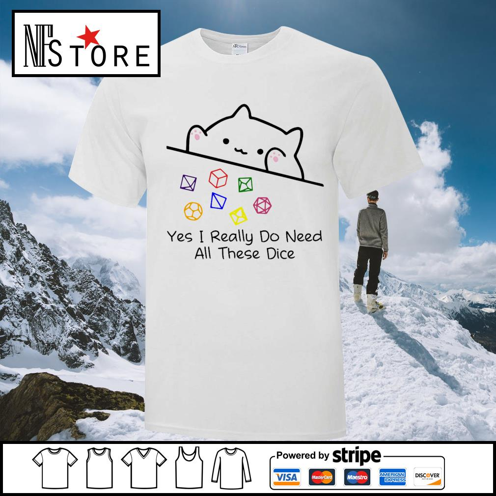 Dungeon Meowster yes I really do need all these dice shirt