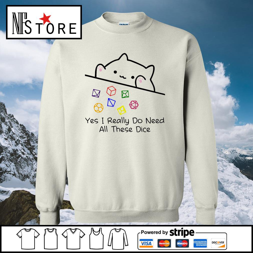 Dungeon Meowster yes I really do need all these dice s sweater