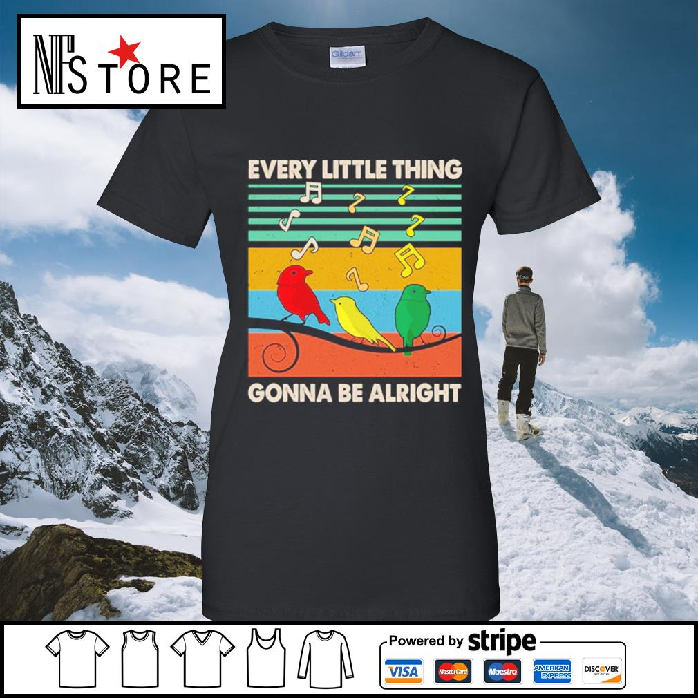Every little thing gonna be alright vintage s ladies-tee