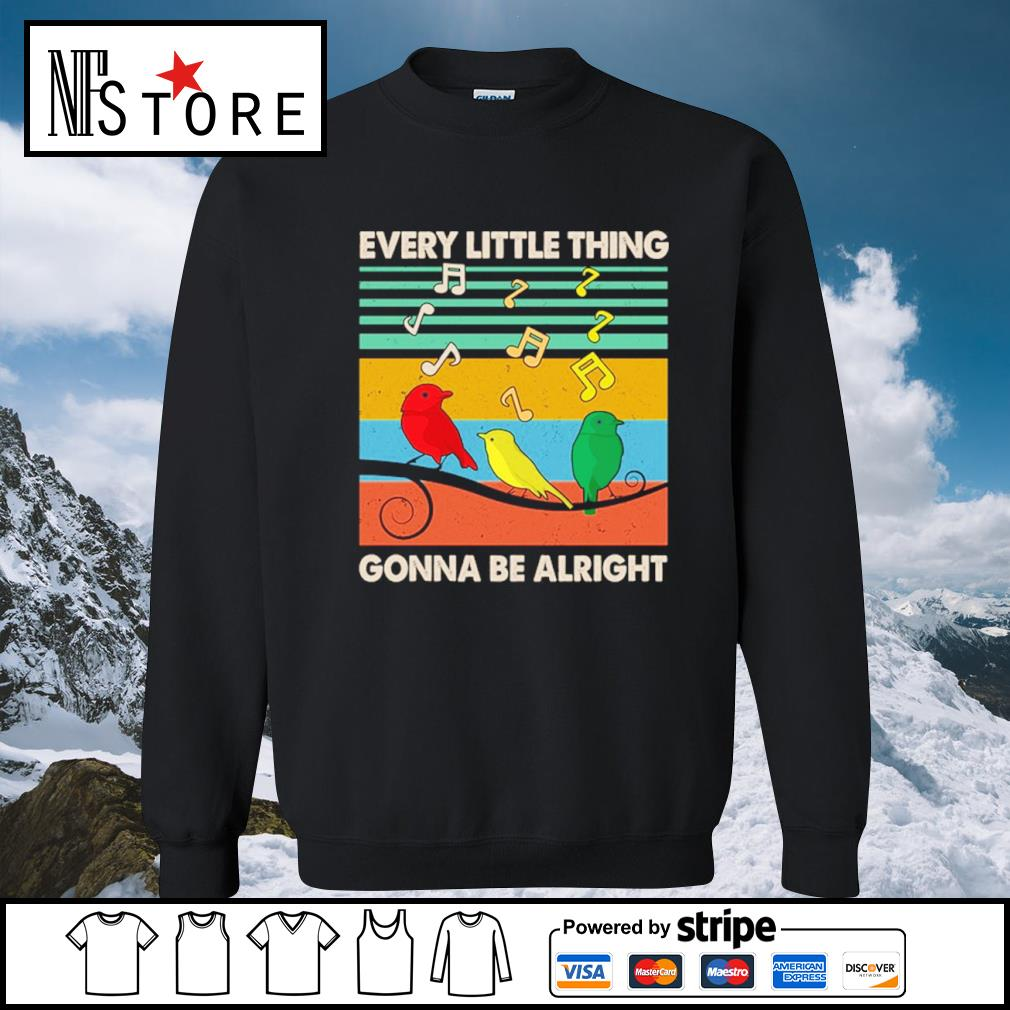 Every little thing gonna be alright vintage s sweater