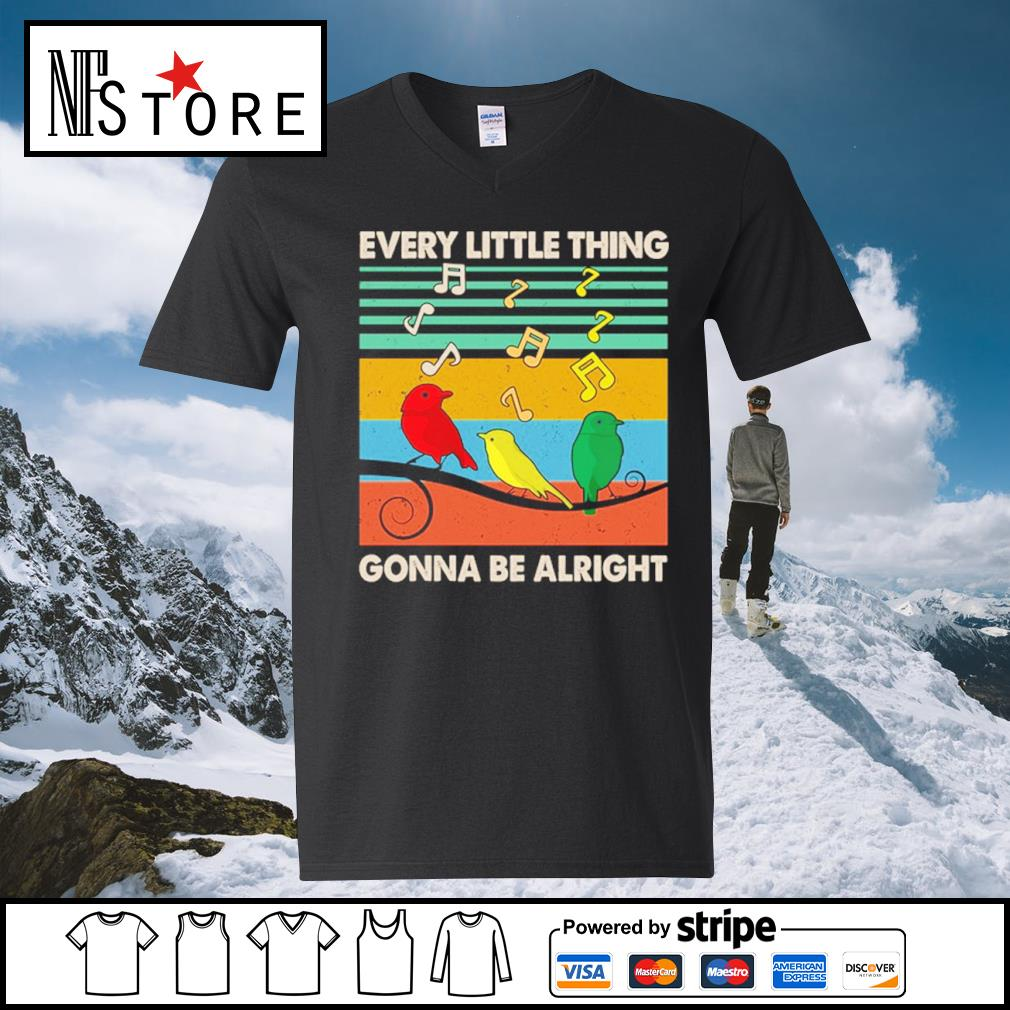 Every little thing gonna be alright vintage s v-neck-t-shirt