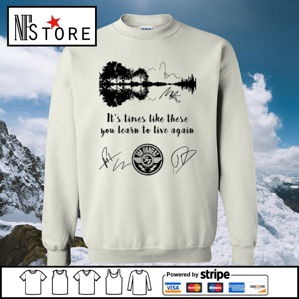 Foo Fighters it's times like these you learn to live again signatures s sweater
