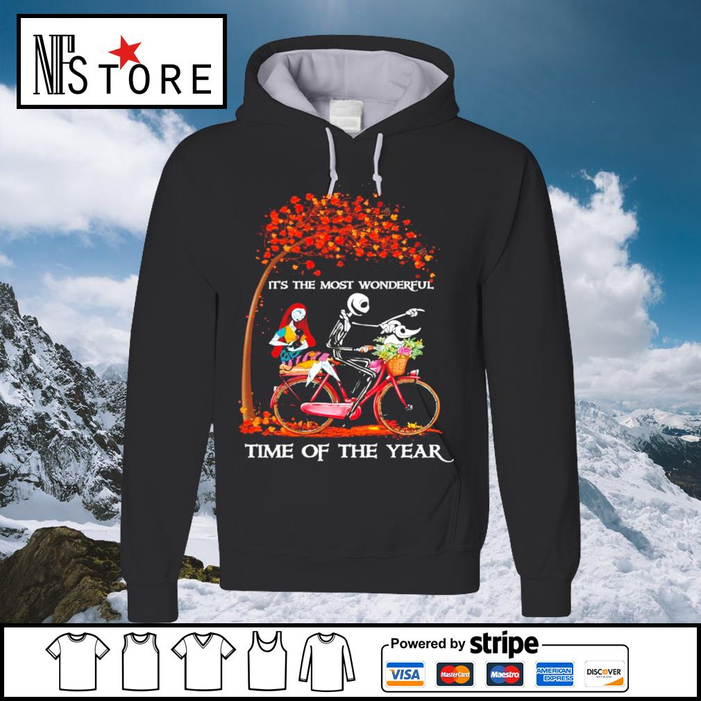 Halloween autumn Jack Skeleton and Sally it's the most wonderful time of the year s hoodie