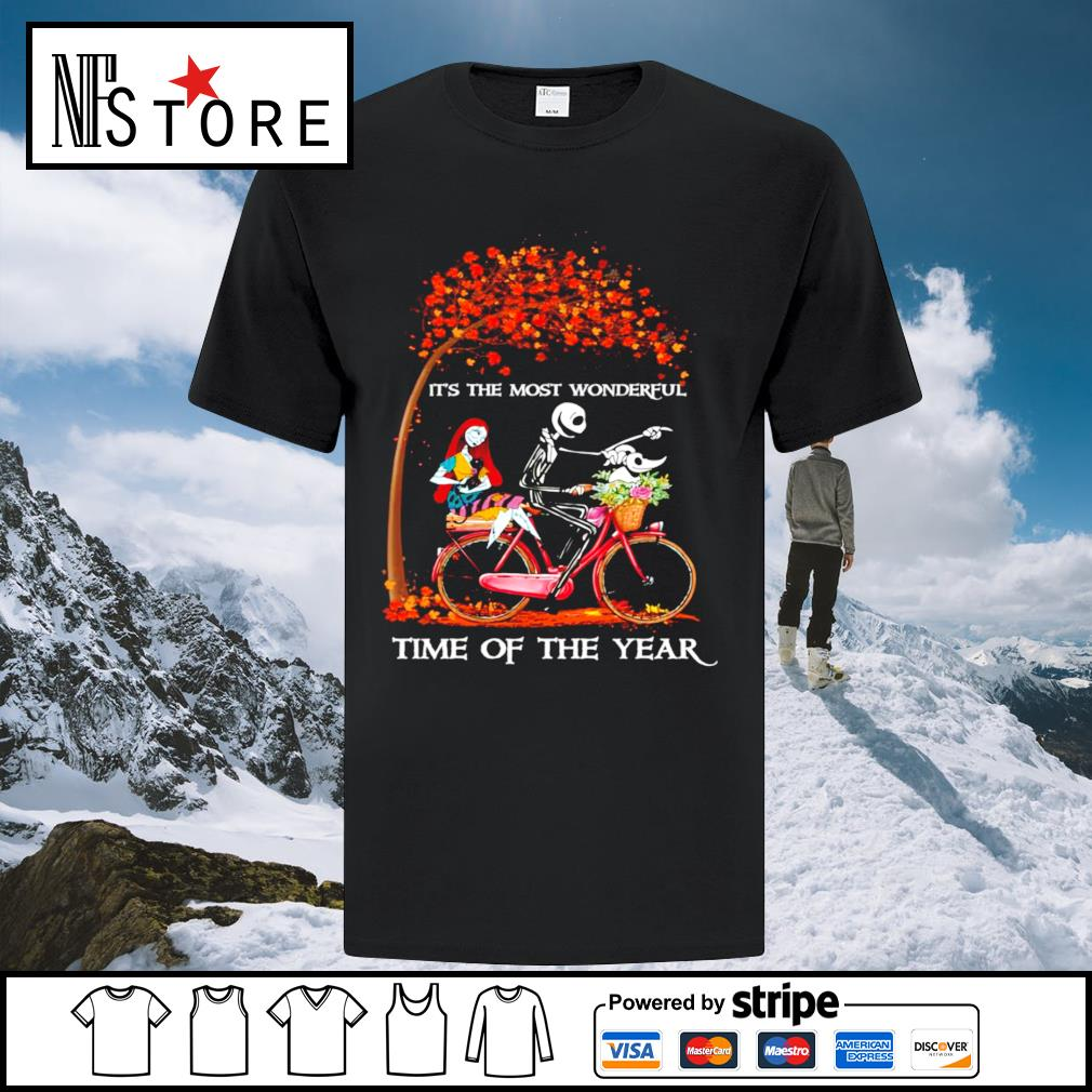 Halloween autumn Jack Skeleton and Sally it's the most wonderful time of the year shirt