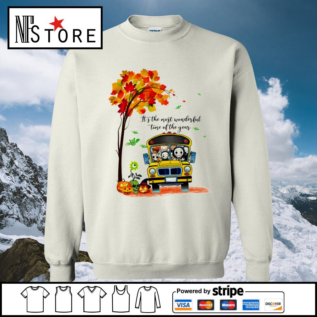 Halloween horror movies characters school bus it's the most wonderful time of the year s sweater