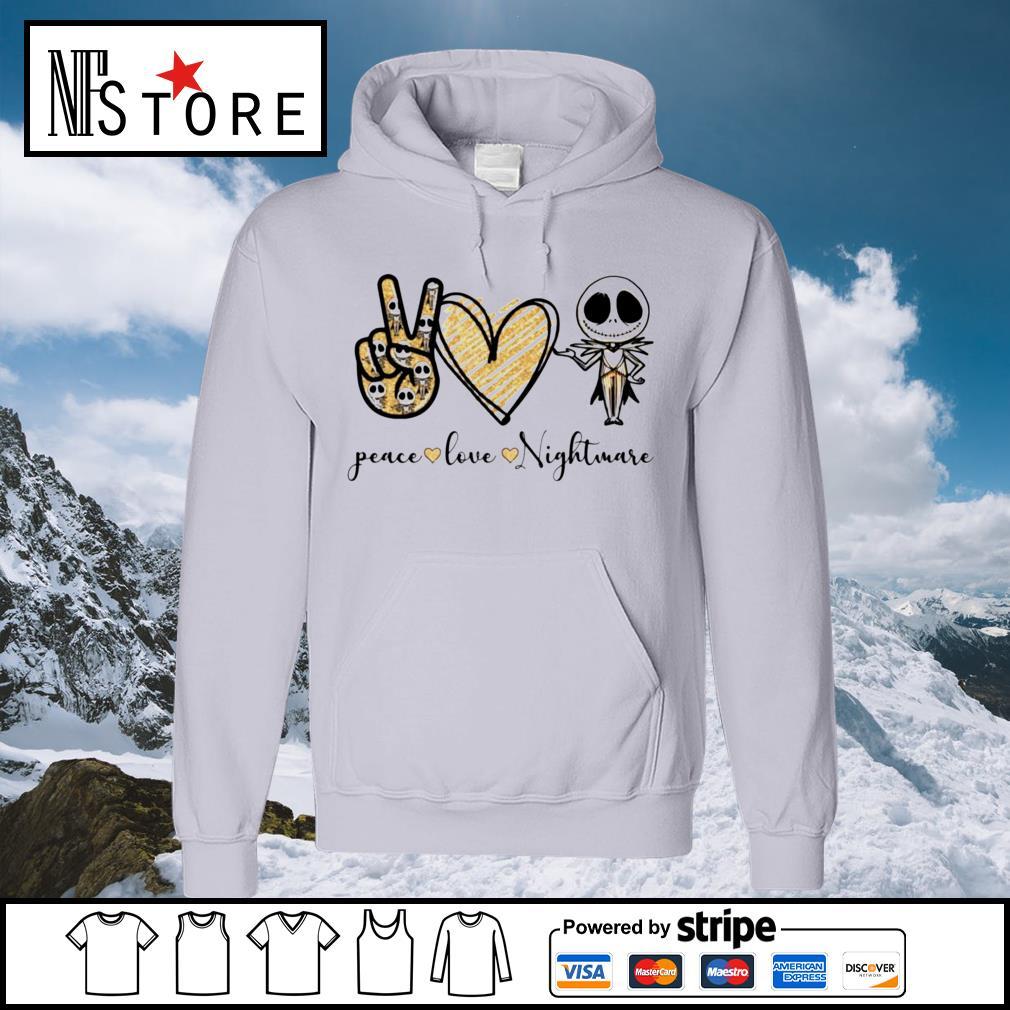 Halloween Jack Skellington peace love Nightmare s hoodie