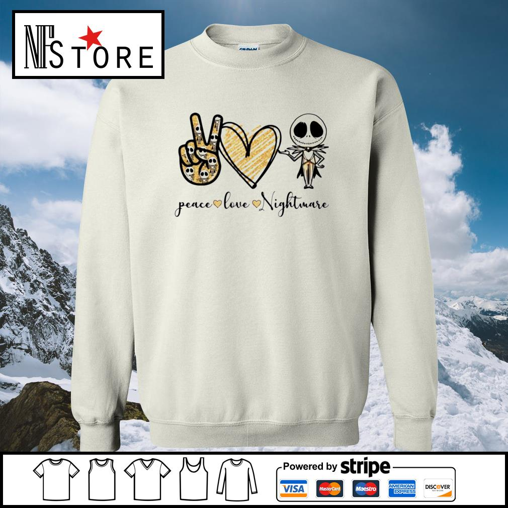 Halloween Jack Skellington peace love Nightmare s sweater