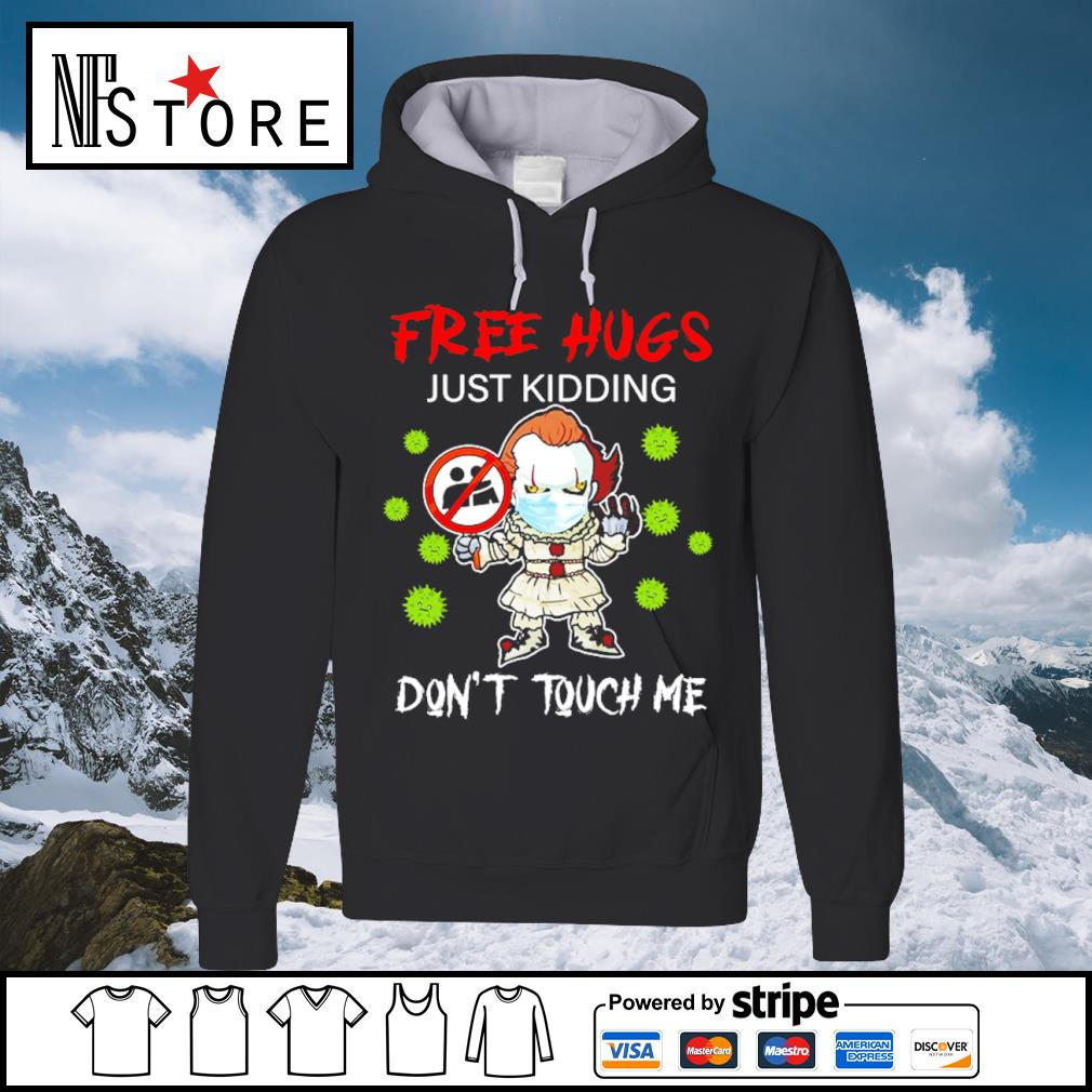 Halloween Pennywise chibi free hugs just kidding don't touch me s hoodie