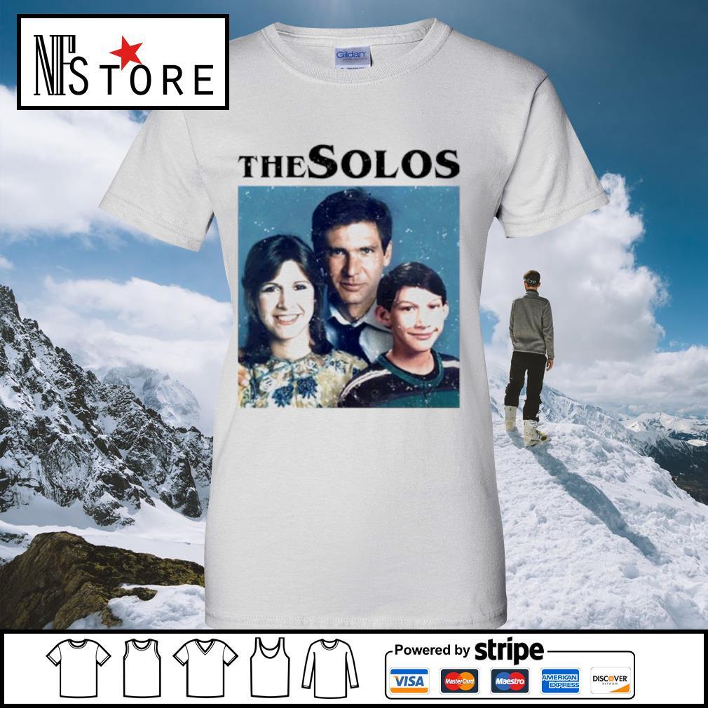 Han Solo Princess Leia Kylo Ren The Solos family s ladies-tee