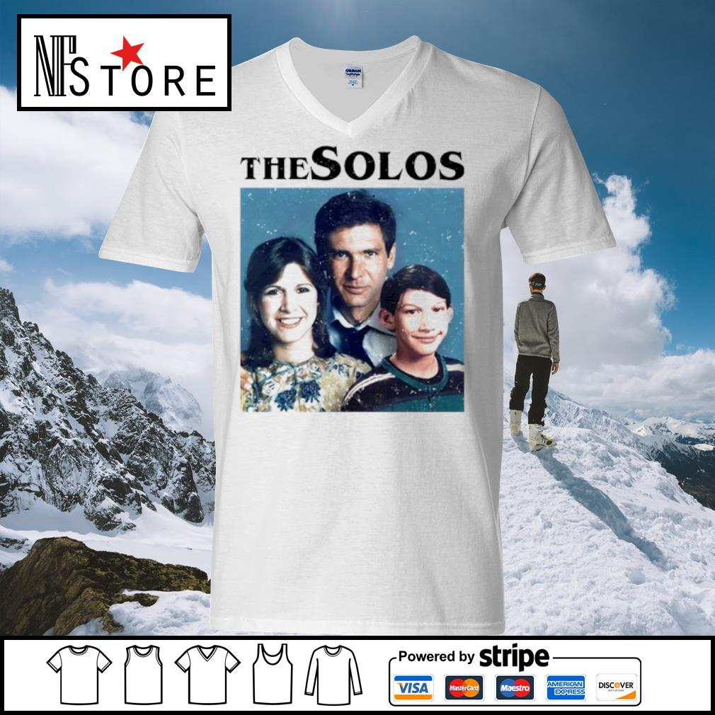 Han Solo Princess Leia Kylo Ren The Solos family s v-neck-t-shirt
