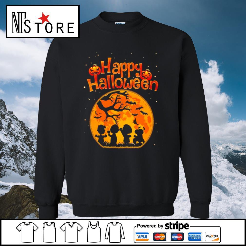 Happy halloween Peanuts characters s sweater