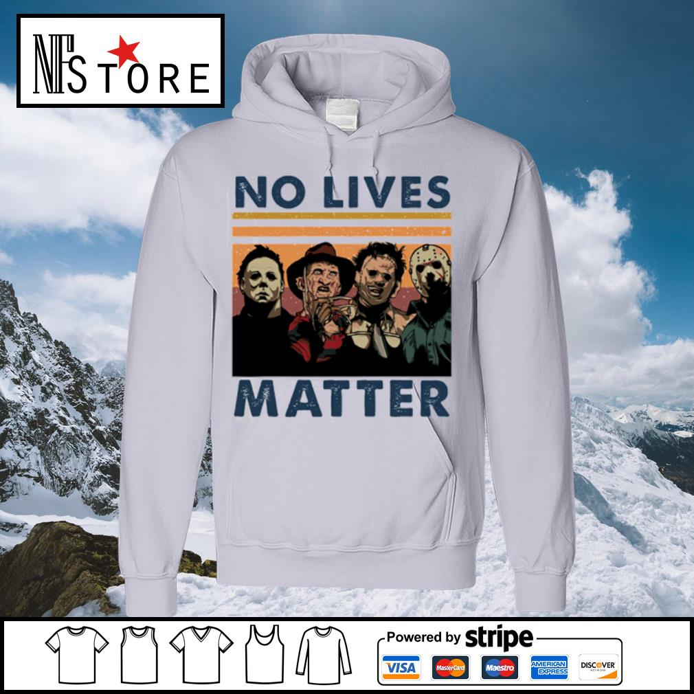 Horror characters no lives matter vintage s hoodie