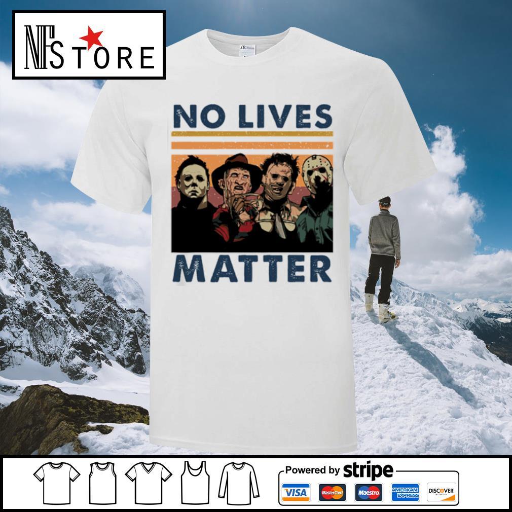 Horror characters no lives matter vintage shirt