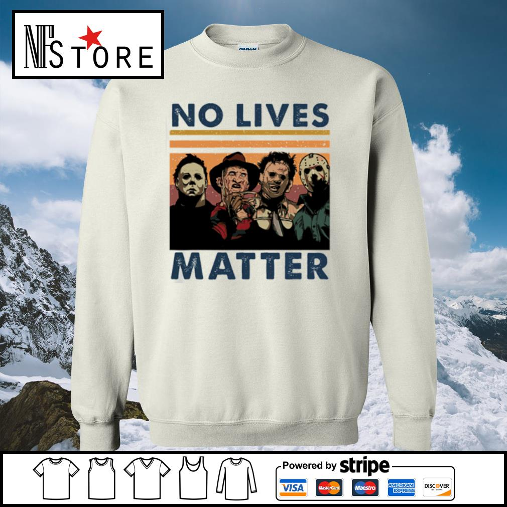 Horror characters no lives matter vintage s sweater