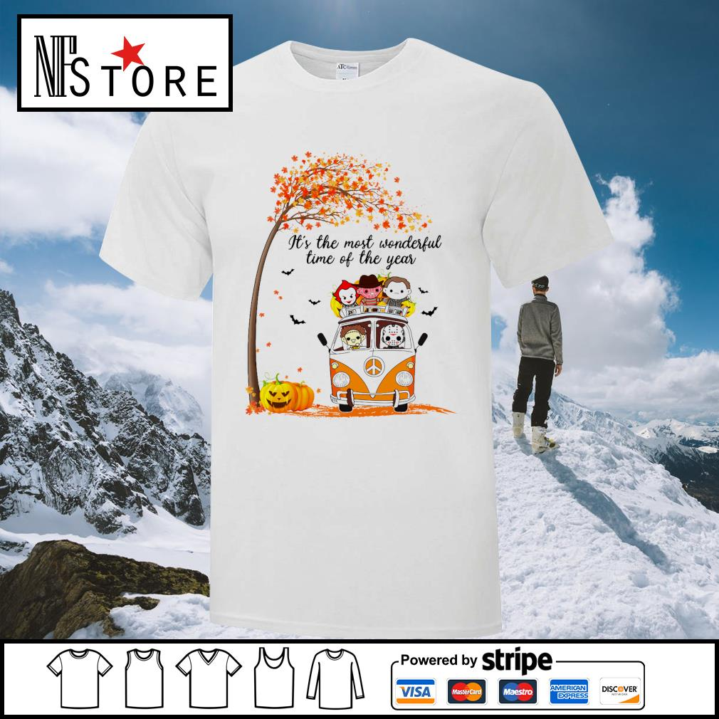 Horror Movies Character It_s the most wonderful time of the year Halloween shirt